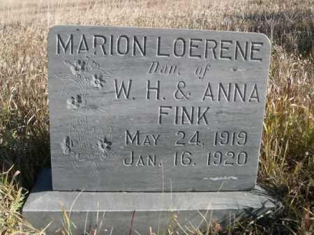 FINK, MARION LOERENE - Dawes County, Nebraska | MARION LOERENE FINK - Nebraska Gravestone Photos