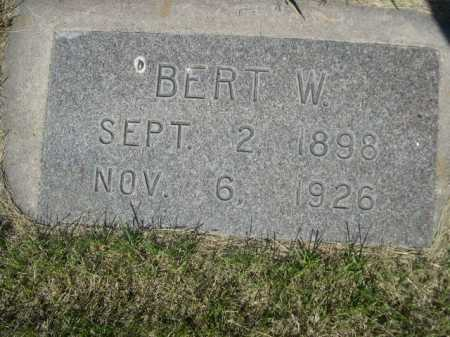 FISHER, BERT W. - Dawes County, Nebraska | BERT W. FISHER - Nebraska Gravestone Photos