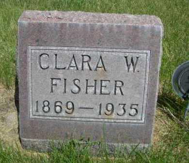 FISHER, CLARA W. - Dawes County, Nebraska   CLARA W. FISHER - Nebraska Gravestone Photos