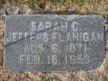 FLANIGAN, SARAH C. JEFFERS - Dawes County, Nebraska   SARAH C. JEFFERS FLANIGAN - Nebraska Gravestone Photos