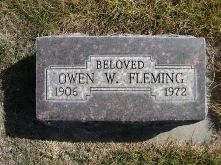 FLEMING, OWEN W. - Dawes County, Nebraska | OWEN W. FLEMING - Nebraska Gravestone Photos
