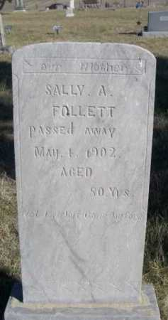 FOLLETT, SALLY A. - Dawes County, Nebraska | SALLY A. FOLLETT - Nebraska Gravestone Photos