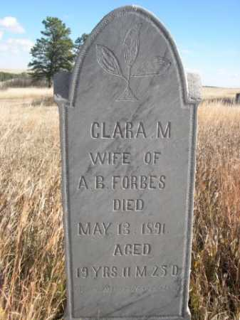 FORBES, CLARA M. - Dawes County, Nebraska | CLARA M. FORBES - Nebraska Gravestone Photos