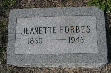 FORBES, JEANETTE - Dawes County, Nebraska | JEANETTE FORBES - Nebraska Gravestone Photos