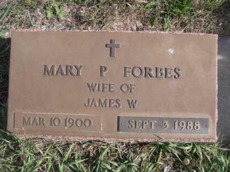 FORBES, MARY P. - Dawes County, Nebraska | MARY P. FORBES - Nebraska Gravestone Photos