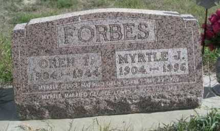 FORBES, OREN T. - Dawes County, Nebraska   OREN T. FORBES - Nebraska Gravestone Photos
