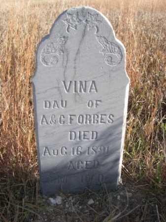 FORBES, VINA - Dawes County, Nebraska | VINA FORBES - Nebraska Gravestone Photos