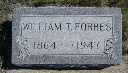 FORBES, WILLIAM T. - Dawes County, Nebraska | WILLIAM T. FORBES - Nebraska Gravestone Photos