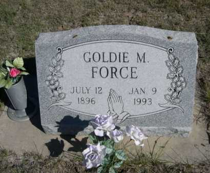 FORCE, GOLDIE M. - Dawes County, Nebraska | GOLDIE M. FORCE - Nebraska Gravestone Photos