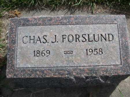 FORSLUND, CHAS. J. - Dawes County, Nebraska | CHAS. J. FORSLUND - Nebraska Gravestone Photos