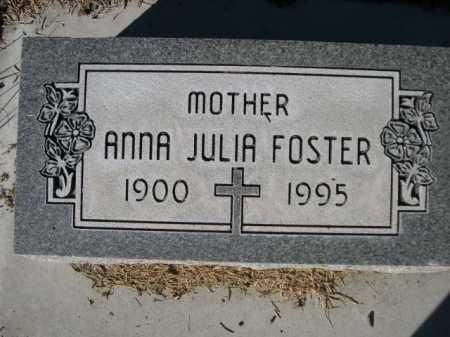 FOSTER, ANNA JULIA - Dawes County, Nebraska | ANNA JULIA FOSTER - Nebraska Gravestone Photos