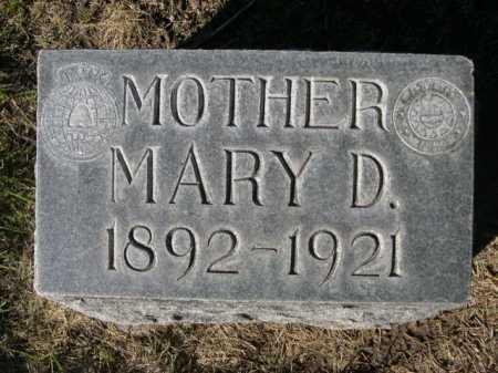 FOSTER, MARY D. - Dawes County, Nebraska | MARY D. FOSTER - Nebraska Gravestone Photos