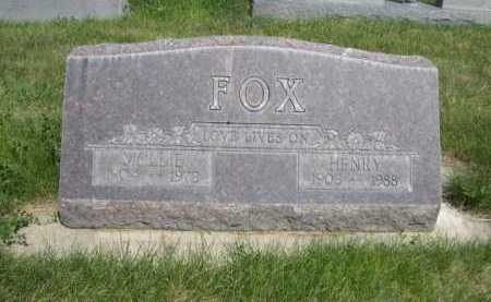 FOX, HENRY - Dawes County, Nebraska | HENRY FOX - Nebraska Gravestone Photos