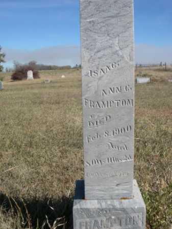 FRAMPTON, ISAAC - Dawes County, Nebraska | ISAAC FRAMPTON - Nebraska Gravestone Photos