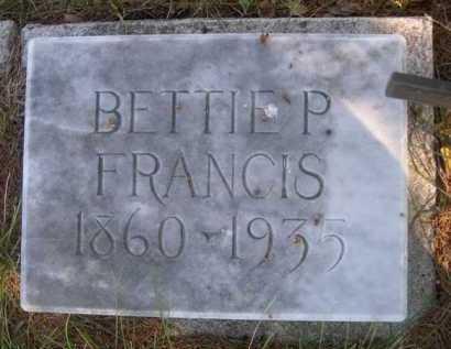 FRANCIS, BETTIE P. - Dawes County, Nebraska | BETTIE P. FRANCIS - Nebraska Gravestone Photos