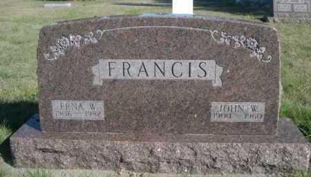 FRANCIS, ERNA W. - Dawes County, Nebraska   ERNA W. FRANCIS - Nebraska Gravestone Photos