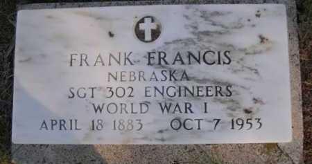 FRANCIS, FRANK - Dawes County, Nebraska | FRANK FRANCIS - Nebraska Gravestone Photos