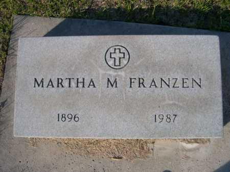 FRANZEN, MARTHA M - Dawes County, Nebraska | MARTHA M FRANZEN - Nebraska Gravestone Photos