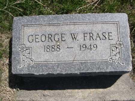 FRASE, GEORGE W. - Dawes County, Nebraska   GEORGE W. FRASE - Nebraska Gravestone Photos