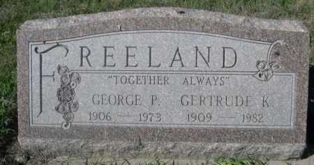 FREELAND, GEORGE P. - Dawes County, Nebraska | GEORGE P. FREELAND - Nebraska Gravestone Photos