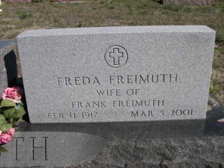 FREIMUTH, FREDA - Dawes County, Nebraska | FREDA FREIMUTH - Nebraska Gravestone Photos