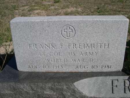FREIMUTH, FRANK E. - Dawes County, Nebraska | FRANK E. FREIMUTH - Nebraska Gravestone Photos