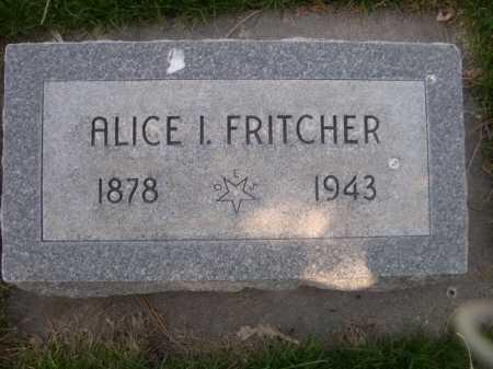FRITCHER, ALICE I. - Dawes County, Nebraska | ALICE I. FRITCHER - Nebraska Gravestone Photos