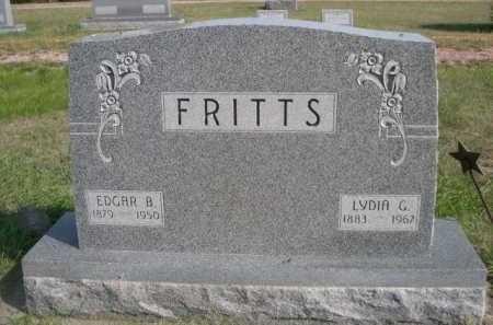 FRITTS, EDGAR B. - Dawes County, Nebraska | EDGAR B. FRITTS - Nebraska Gravestone Photos