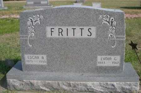 FRITTS, EDGAR B. - Dawes County, Nebraska | EDGAR B. FRITTS - Nebraska Gravestone Photos