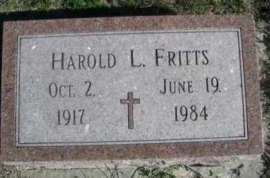 FRITTS, HAROLD L. - Dawes County, Nebraska   HAROLD L. FRITTS - Nebraska Gravestone Photos