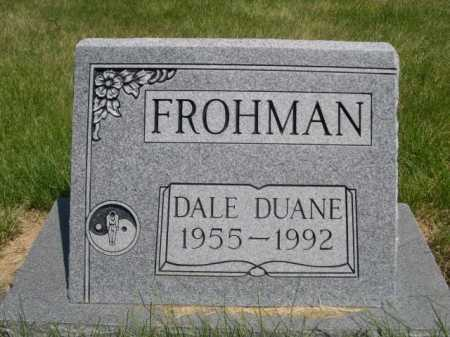 FROHMAN, DALE DUANE - Dawes County, Nebraska | DALE DUANE FROHMAN - Nebraska Gravestone Photos