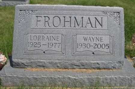 FROHMAN, WAYNE - Dawes County, Nebraska | WAYNE FROHMAN - Nebraska Gravestone Photos