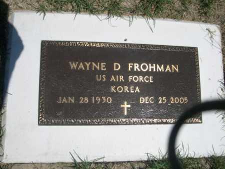 FROHMAN, WAYNE D. - Dawes County, Nebraska   WAYNE D. FROHMAN - Nebraska Gravestone Photos