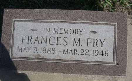 FRY, FRANCES M. - Dawes County, Nebraska | FRANCES M. FRY - Nebraska Gravestone Photos