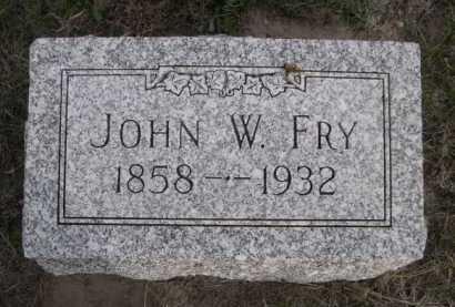 FRY, JOHN W. - Dawes County, Nebraska | JOHN W. FRY - Nebraska Gravestone Photos