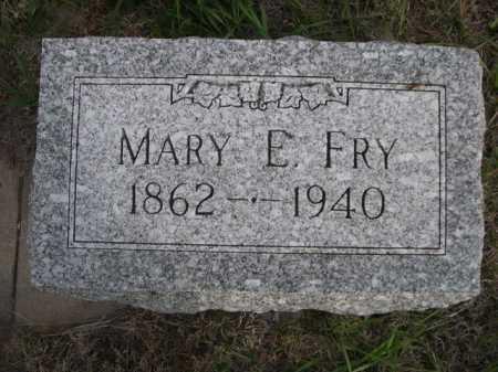 FRY, MARY E. - Dawes County, Nebraska   MARY E. FRY - Nebraska Gravestone Photos