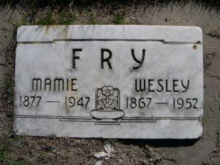 FRY, WESLEY - Dawes County, Nebraska | WESLEY FRY - Nebraska Gravestone Photos