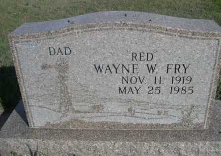 "FRY, WAYNE W. ""RED"" - Dawes County, Nebraska 