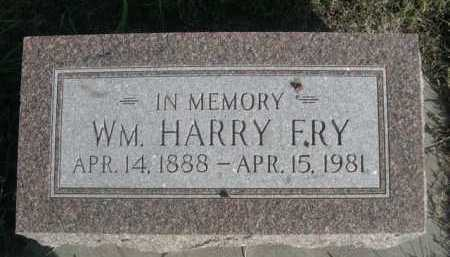 FRY, WM. HARRY - Dawes County, Nebraska   WM. HARRY FRY - Nebraska Gravestone Photos
