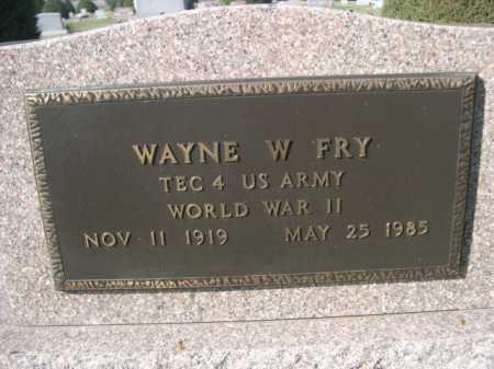 FRY, WAYNE W. - Dawes County, Nebraska | WAYNE W. FRY - Nebraska Gravestone Photos