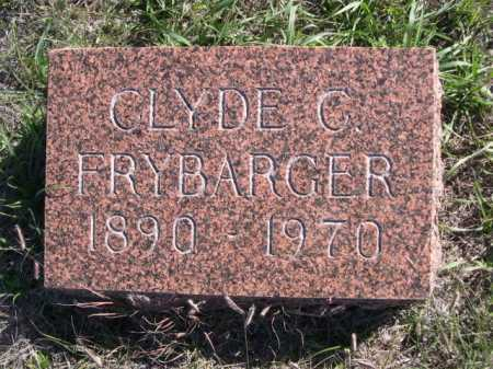 FRYBARGER, CLYDE C. - Dawes County, Nebraska | CLYDE C. FRYBARGER - Nebraska Gravestone Photos