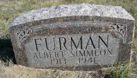 FURMAN, ALBERT SIMMEON - Dawes County, Nebraska   ALBERT SIMMEON FURMAN - Nebraska Gravestone Photos