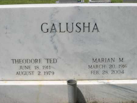 """GALUSHA, THEODORE """"TED"""" - Dawes County, Nebraska   THEODORE """"TED"""" GALUSHA - Nebraska Gravestone Photos"""