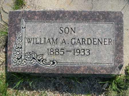 GARDENER, WILLIAM A. - Dawes County, Nebraska | WILLIAM A. GARDENER - Nebraska Gravestone Photos