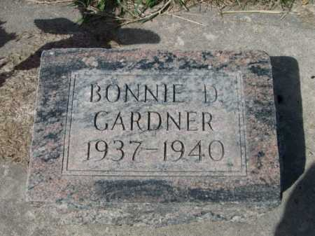 GARDNER, BONNIE D. - Dawes County, Nebraska | BONNIE D. GARDNER - Nebraska Gravestone Photos