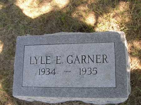 GARNER, LYLE E. - Dawes County, Nebraska | LYLE E. GARNER - Nebraska Gravestone Photos