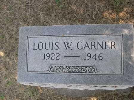 GARNER, LOUIS W. - Dawes County, Nebraska | LOUIS W. GARNER - Nebraska Gravestone Photos