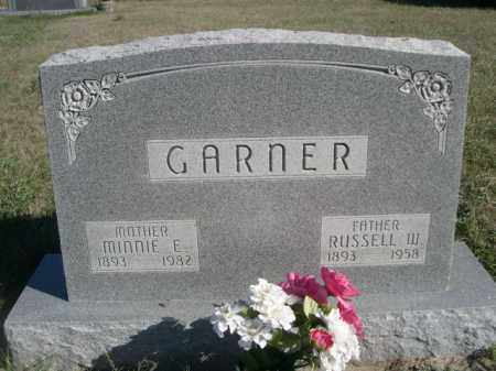 GARNER, MINNIE E. - Dawes County, Nebraska   MINNIE E. GARNER - Nebraska Gravestone Photos