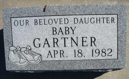 GARTNER, BABY DAUGHTER - Dawes County, Nebraska   BABY DAUGHTER GARTNER - Nebraska Gravestone Photos
