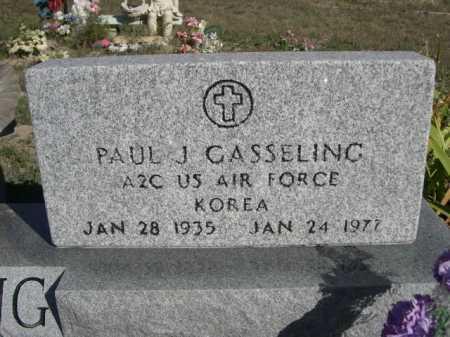 GASSELING, PAUL J. - Dawes County, Nebraska | PAUL J. GASSELING - Nebraska Gravestone Photos